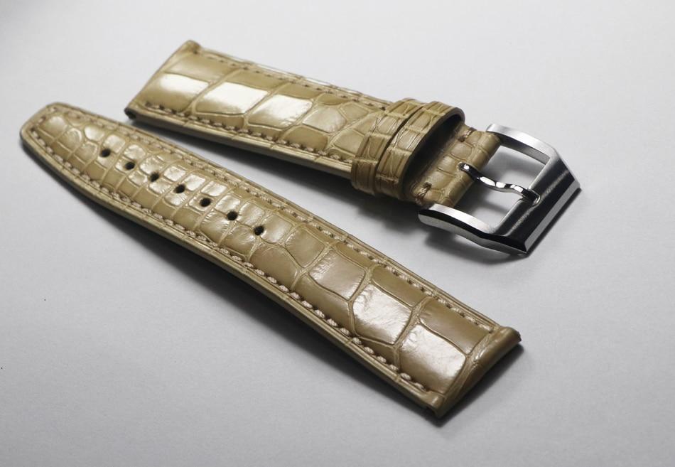 20 21 22mm high quality Handmade vintage True crocodile skin watchbands watch accessories watch band 2019 Universal watch straps