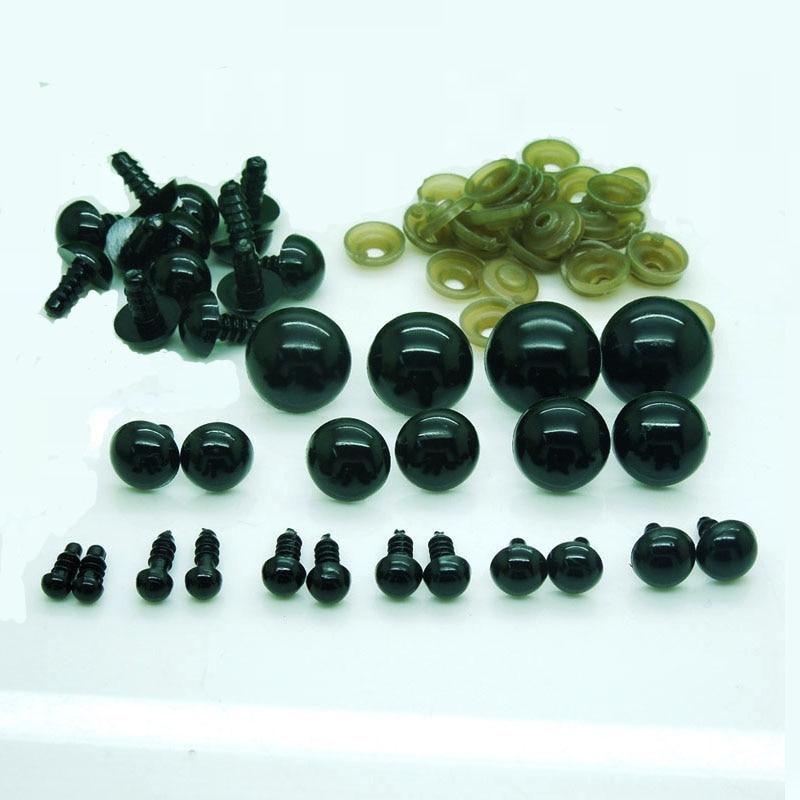 Mylb, accesorios para muñecos hechos a mano de Ojos de seguridad de plástico negro de 6-20mm para Amigurumi o crochet, oso, muñeca, Animal, marioneta