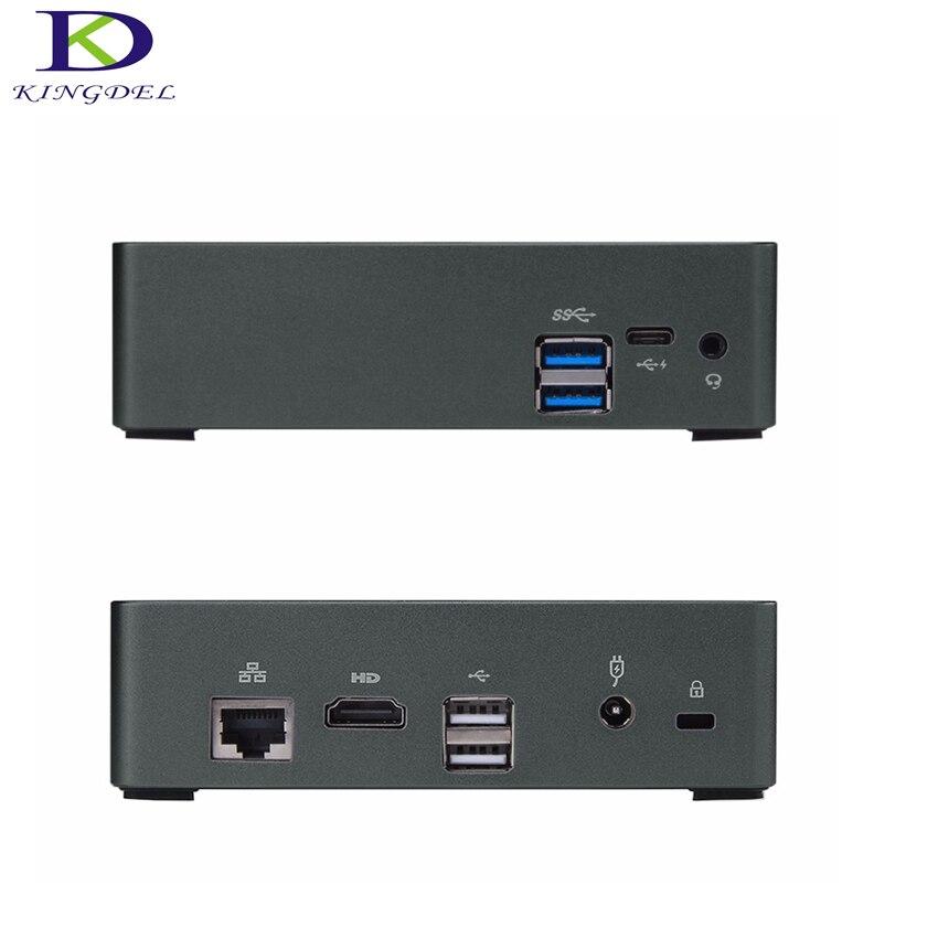 Envío Gratis DDR4 con Mini ventilador Soporte para PC Max 16G RAM 8th Gen CPU Intel Core i7 8550U Mini HTPC computadora i5 8250U Bluetooth PC