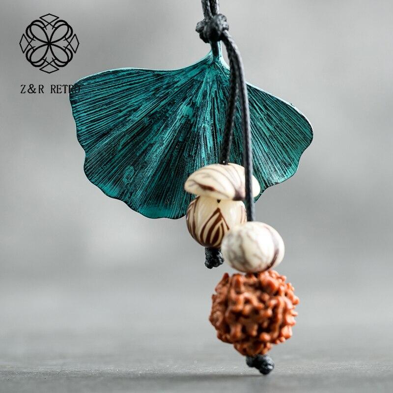 Bodhi semente artesanal colar corda corrente unicórnio colar liga de zinco roupas femininas acessórios collier femme jóias meninas presente