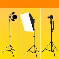 Aluminum alloy multifunctional three tripod flash lamp photography lamp shelf 2 meters telescopic bracket photo studio CD50
