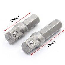 """2 pçs cromo vanádio aço soquete adaptador conjunto hex shank 1/4 """"extensão brocas barra conjunto de ferramentas elétricas"""