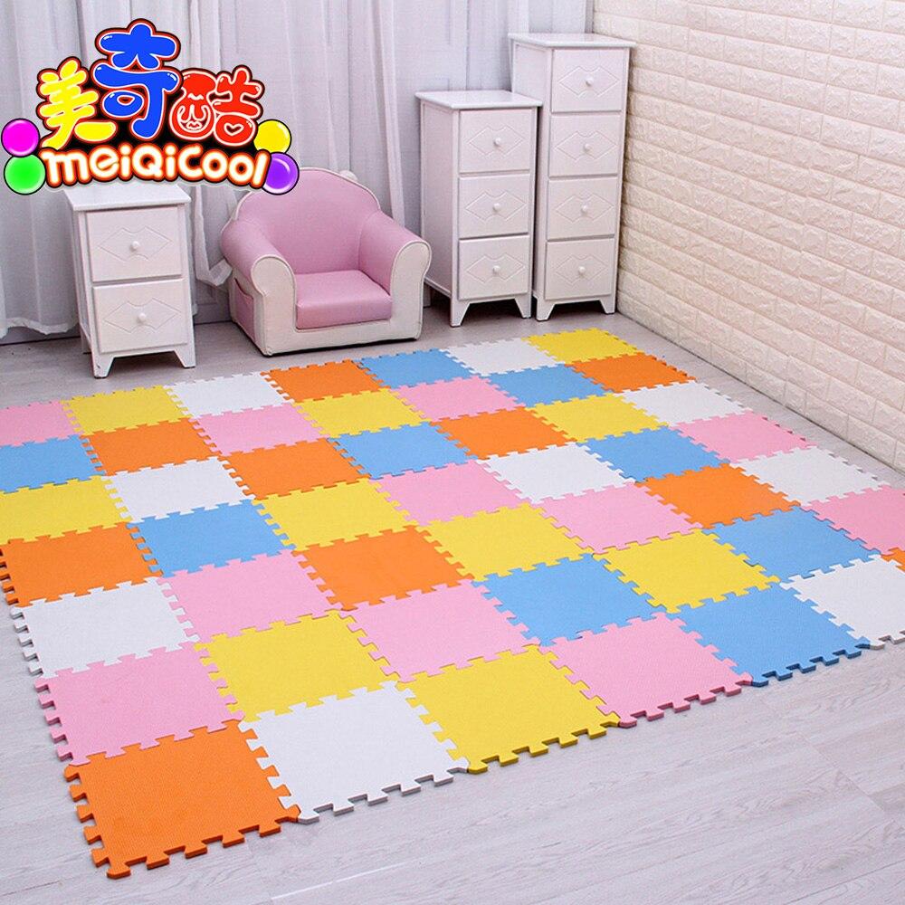 Детский пенопластовый игровой коврик из ЭВА/9 18 или 30/партия Блокировка плитки для упражнений напольный ковер для детей, каждый 30 смх30 см, 1 с...