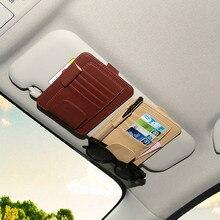 Neue Auto Inerior Styling Zubehör Auto Sonnenblende Gläser Sonnenbrille Ticket Empfang Karte Clip Lagerung Inhaber