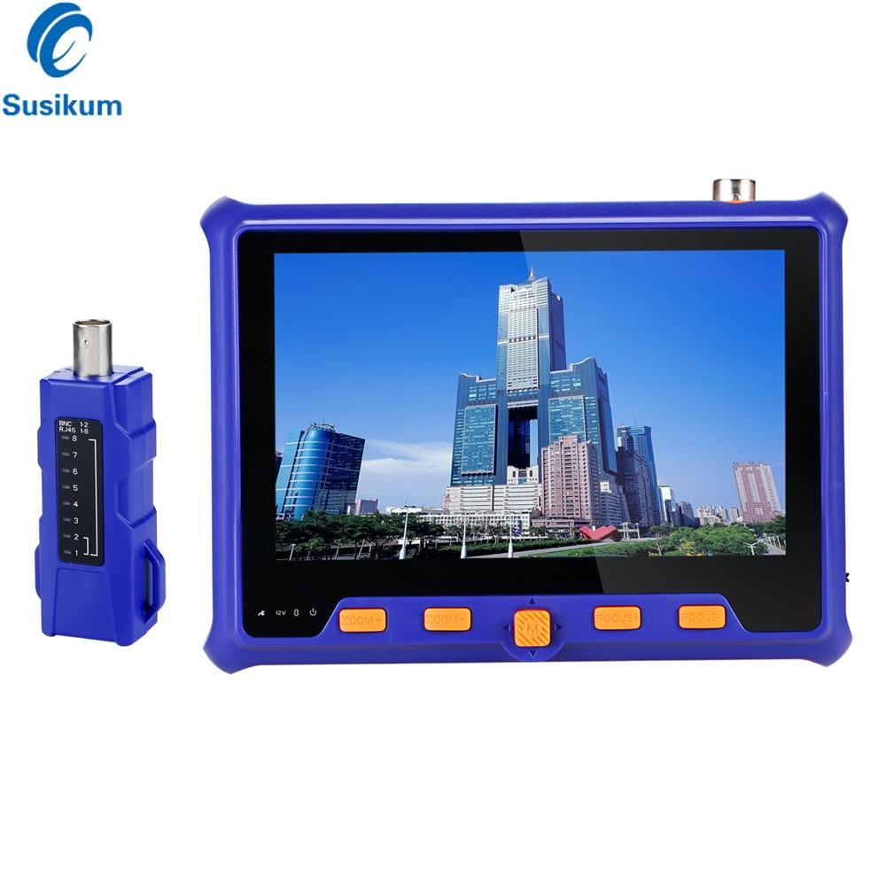 5mp 2mp cctv tester 5 polegada tft lcd tvi ahd cvi cvbs analógico 4in1 câmera de segurança tester monitor saída vga utp cabo teste