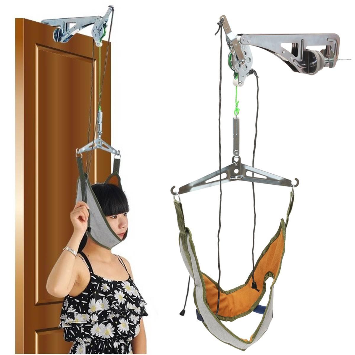 Servikal traksiyon kapı boyun masajı cihazı kiti sedye ayarı kayropraktik sırt kafa masajı gevşeme