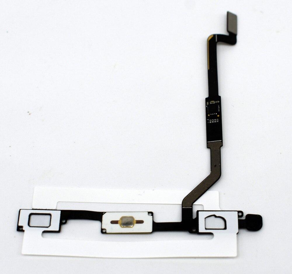 5 unids/lote para Samsung Galaxy nota 3 N900 N9005 Botón del hogar Flex Cable de teclado de Navigator cinta Flex Cable