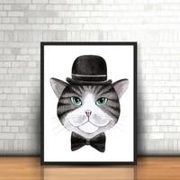 Peinture sur toile imprimee  joli et attrayant  m  Cat  affiche murale pour decoration de la maison  sans cadre  LZ671