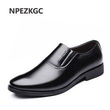 NPEZKGC Italian Men Dress Shoes Slip-on Man Shoes PU Leather Spring Autumn wedding Men oxfords shoes zapatos hombre