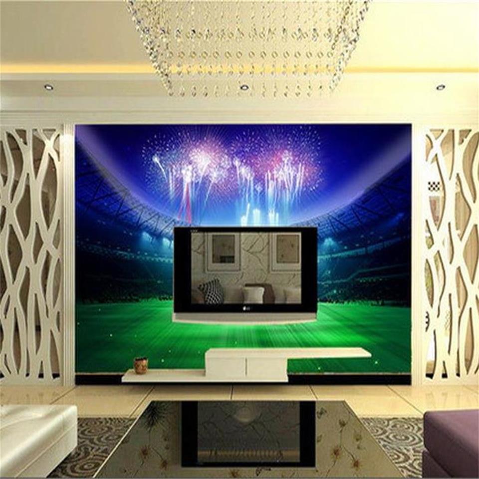 3d photo wallpaper custom living room mural football game hall 3d photo picture sofa TV background non-woven wallpaper mural