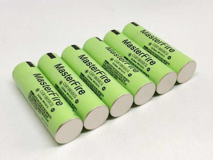 MasterFire 10 adet/grup Orijinal CGR18650CG 18650 3.7V 2250mAh şarj edilebilir pil Lityum Piller