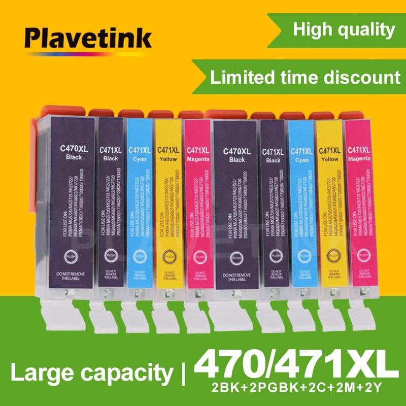 Plavetink 10 piezas cartucho de tinta para Canon 470 PGI470 PGI-470 para Canon PIXMA MG5740 MG6840 MG6840 MG 5740 TS5040 impresora tinta