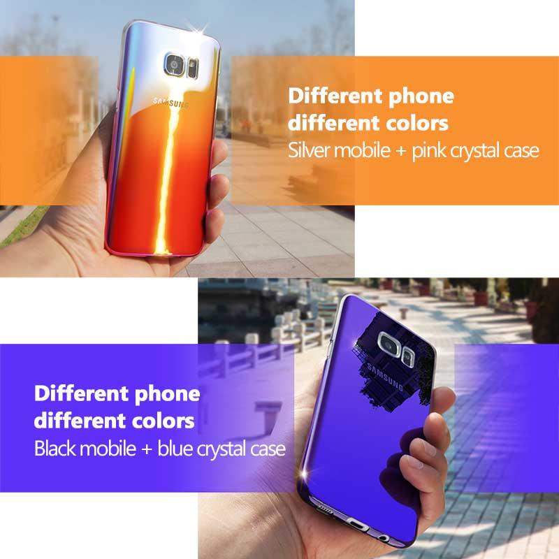 Kolorowe case do samsung galaxy s7 edge s8 plus s8 case gradientu kolor pc mocno plecy pokrywa dla samsung s8 s7 krawędzi case artisome 9