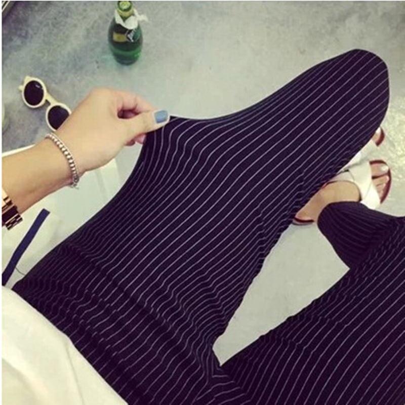 New 2020 Summer Casual Women Pencil Pants Elastic Slim Harem Capris Black White Stripe Leggings Trousers Plus Size Women Pants