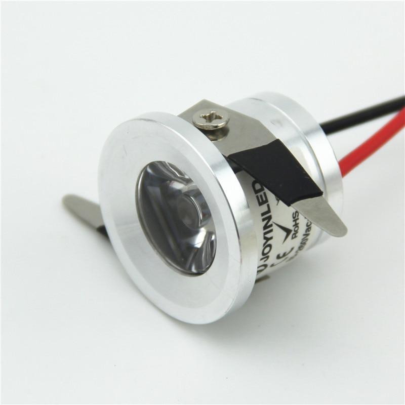 venda quente ac85v 265v prata downlight recessed led teto lampada spotlight 1w mini