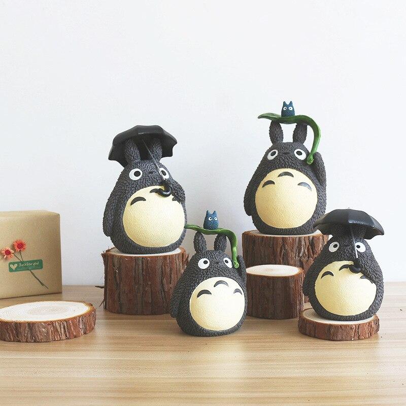 Dessin animé mignon Totoro tirelires créatif résine artisanat décoratif réservoir dargent salon bureau bureau décoration réservoirs dargent