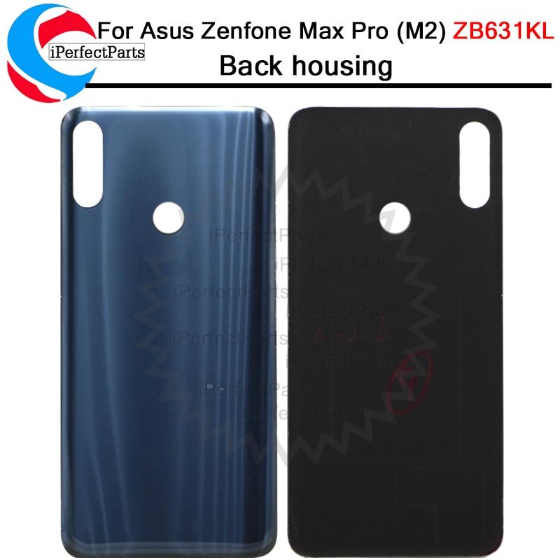 Nuevo para Asus Zenfone Max Pro (M2) ZB631KL cubierta trasera de la batería de la cubierta trasera de cristal para la cubierta de la batería de ASUS M2 ZB631KL