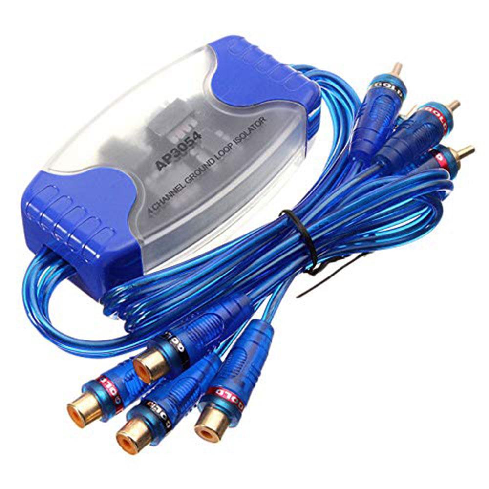 Rca áudio ruído hum filtro ap3054 50 w 4-channel rca estéreo laço à terra isolador