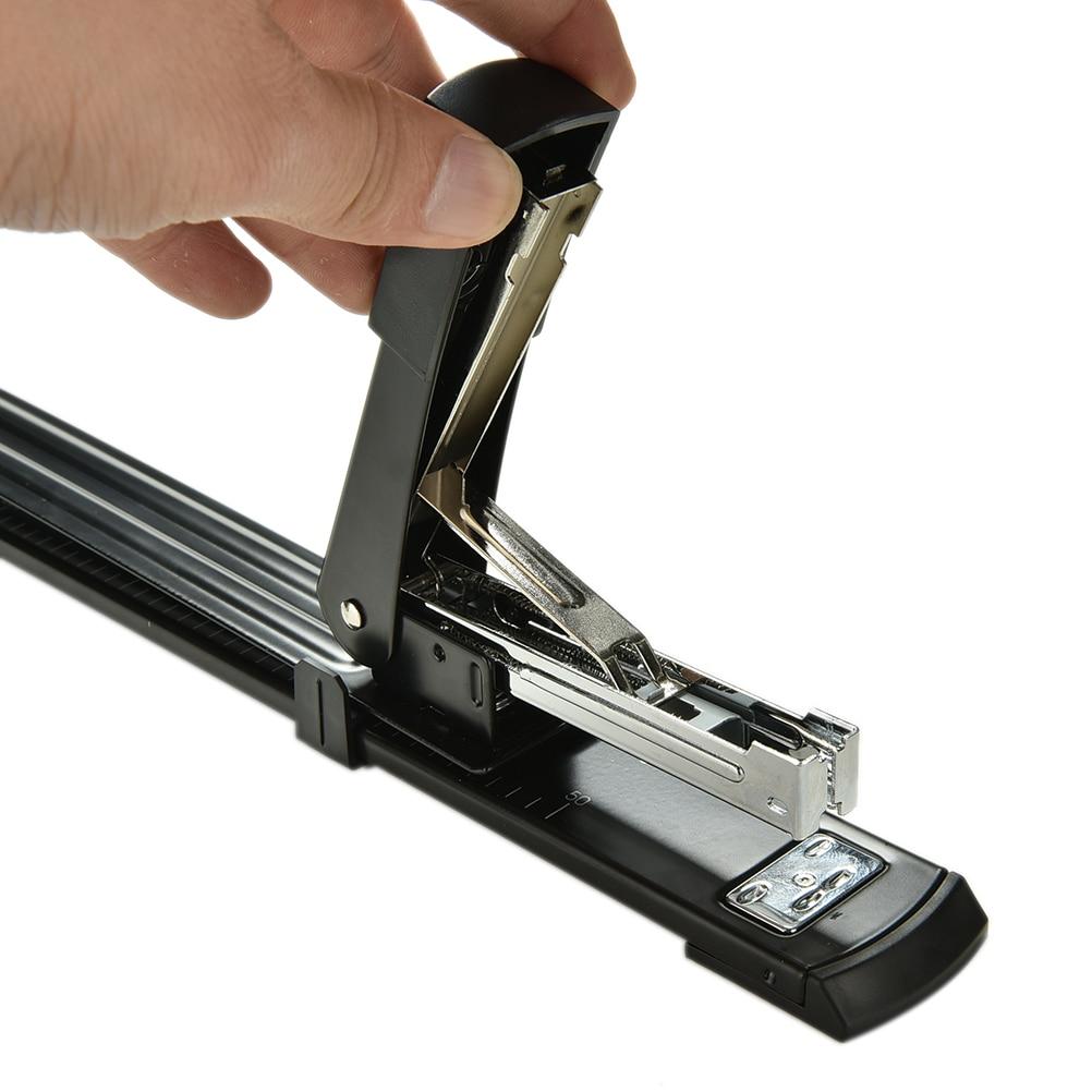 Nuevo Negro reparación engrapadora para libro largo brazo maquina grapadora para encuadernación Manual de Metal grapadora dimensión 40x4x6cm