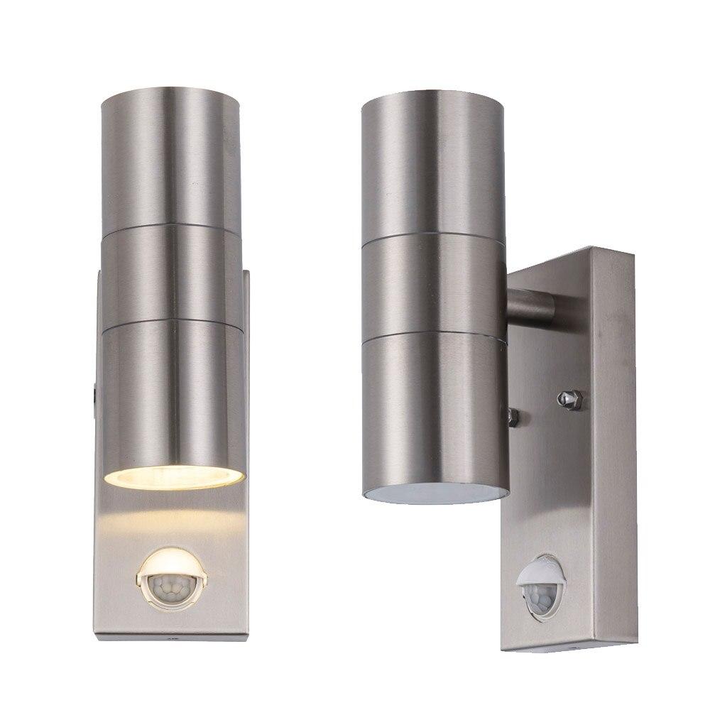 Lámpara de pared con sensor de movimiento de inducción hacia arriba y hacia abajo, luz de pared interior, sala de estar, comedor, Iluminación del pasillo AC85-265V de decoración