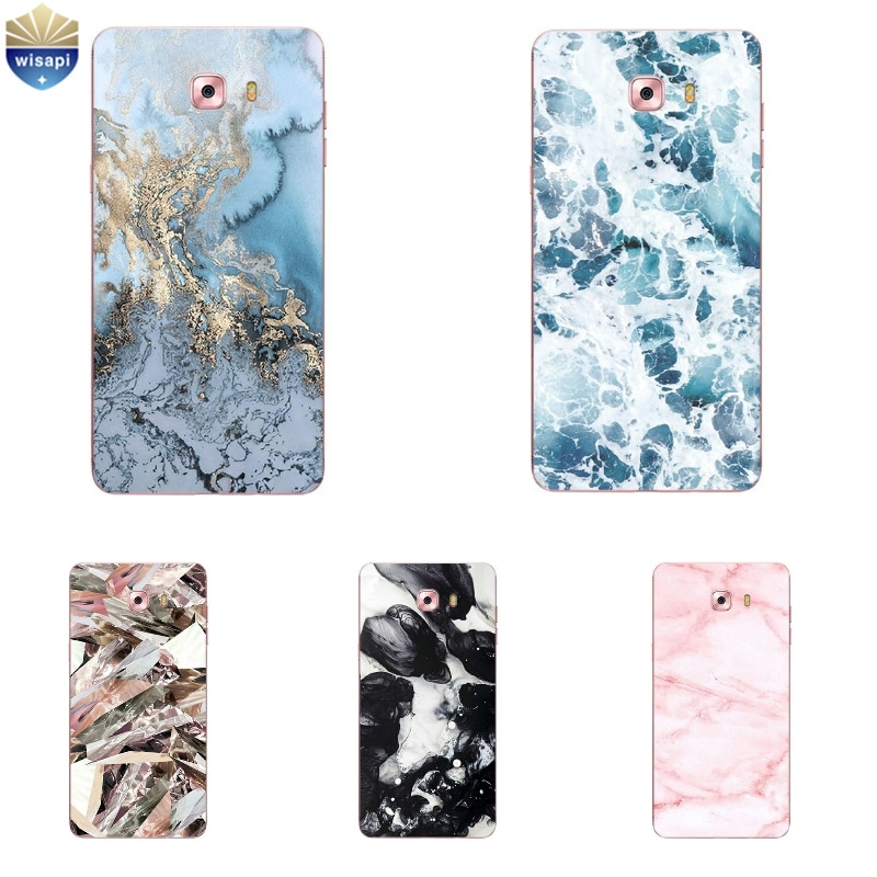 Carcasa para Samsung Galaxy Grand Prime G530 para Galaxy C5 C7 C9 Pro, funda de teléfono para C5000 C7000 Coque TPU, diseño de líneas de mármol