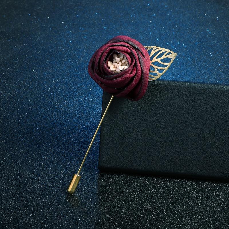 Korean Elegant Fabric Flower Brooches Pins Women Suit Collar Brooch Broche Lapel Pin Fashion Jewelry Luxury Girls Accessories