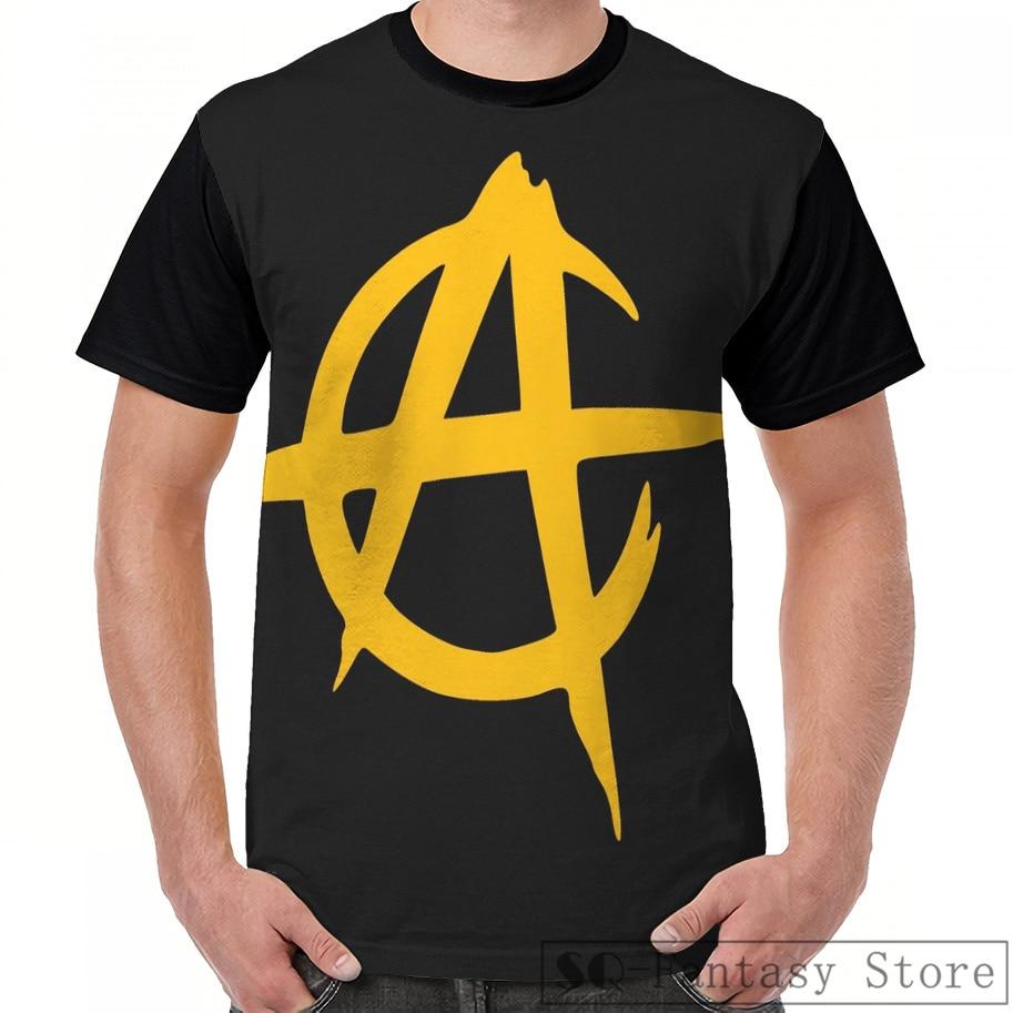 Moda casual impressão masculina t camisa feminina topos camiseta anarco capitalismo 3 gráfico camiseta masculina verão manga curta bonito tshirts