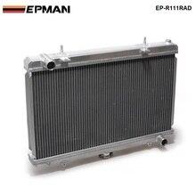 Performance 50mm 2 rangée alliage aluminium radiateur pour Nissan Silvia S14 S15 SR20DET 240SX 200SX manuel EP-R111RAD