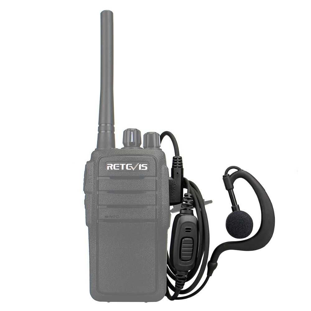 10pcs C-type Earhook Earpiece 2Pin K Plug Walkie Talkie Headset For Retevis RT21 RT24 H777 RT622 RT5R RT618 Baofeng UV-5R 888S enlarge