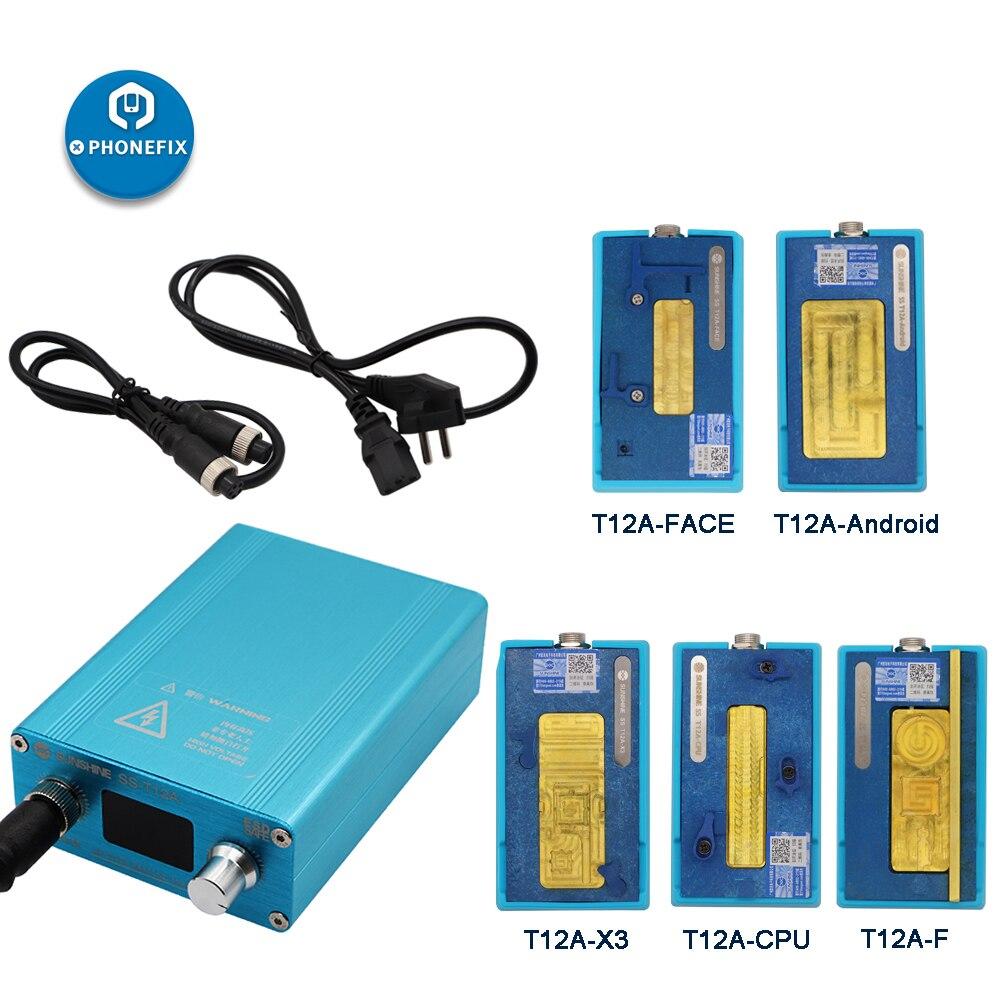 Estación de calentamiento de SS-T12A para IPhone 6 7 8 X XS MAX placa base CPU Estación de desoldar con diferente ranura de calentamiento de la placa base