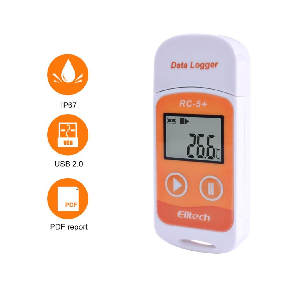 10 шт./лот RC-5 + Высокоточный USB Регистратор данных температуры обновление для холодильной, холодильной цепи транспорта, лаборатории