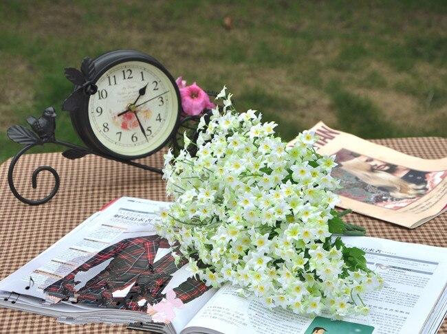 منافذ مصنع] زهور صناعية, سداسية صغيرة ، زهور صناعية ، فتحة زفاف مع الزهور