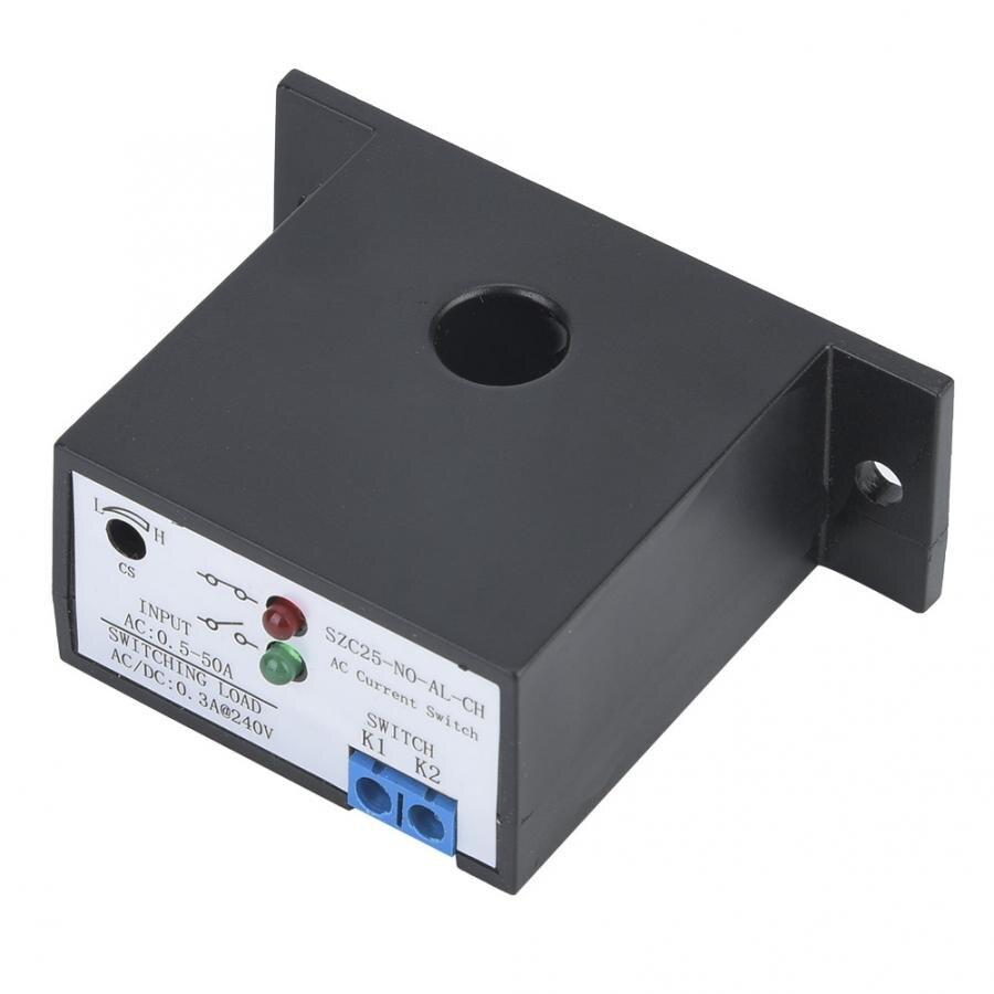 Interruptor de detección de Corriente CA 0,5-50A, fuente de alimentación autoinductiva, interruptor de detección normalmente abierto Ajustable