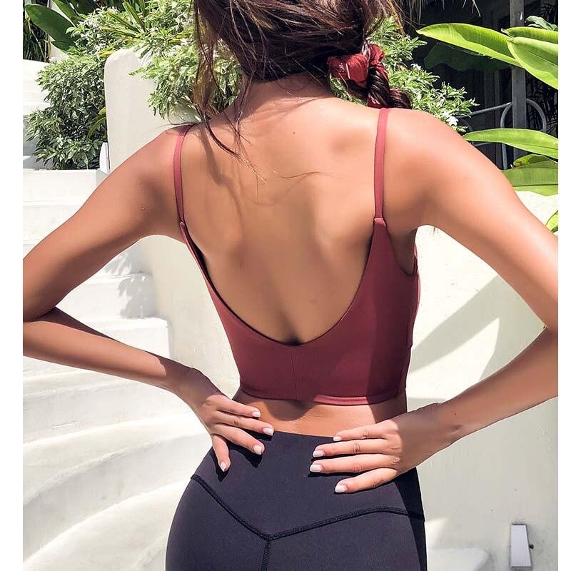 Women Sexy Mesh U shape sports bra quick dry Fitness bra  yoga top   crop vest  sports underwear girl gym clothes