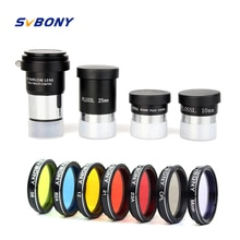 SVBONY 1.25 Plossl Eyepiece Set Barlow Lens Moon Filter CPL Filter Five Color Filter Kit for Astronomy Monocular Telescope