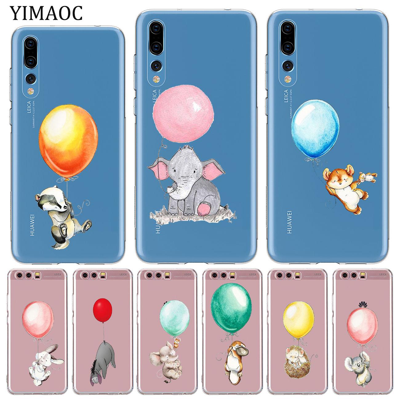 YIMAOC-Funda de silicona suave con forma de globo, conejo, elefante, animal, para...