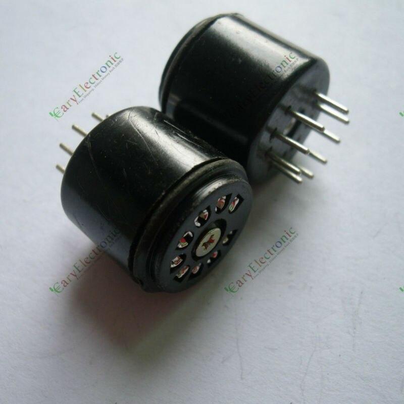 Venta al por mayor y venta al por menor 2 uds 9PIN toma de tubo de baquelita de ahorro FR 12AX7 12AU7 ECC82 ECC83 amp audio piezas envío gratis