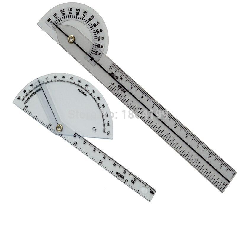 2 pçs/set dedo goniômetro de 180 graus dedo régua medidor de ângulo transferidor Goniômetro Médica plástico