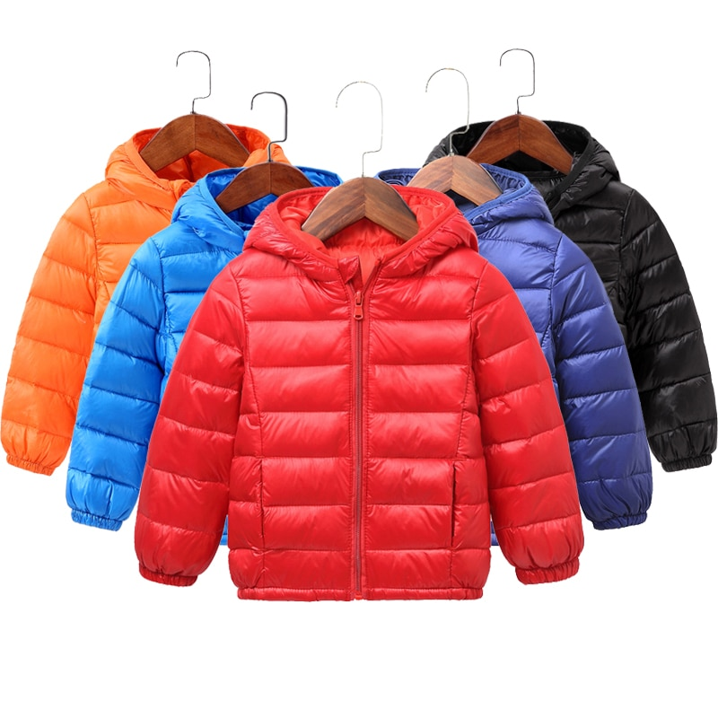 2020 Autumn Winter Hooded Children Down Jackets For Girls Candy Color Warm Kids Down Coats For Boys