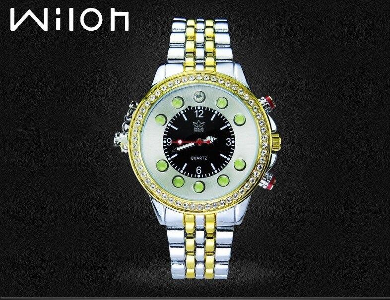 Relojes de lujo novedosos para hombre, marca kasi Creative, relojes deportivos, linterna recargable, detector de dinero, relojes impermeables de aleación
