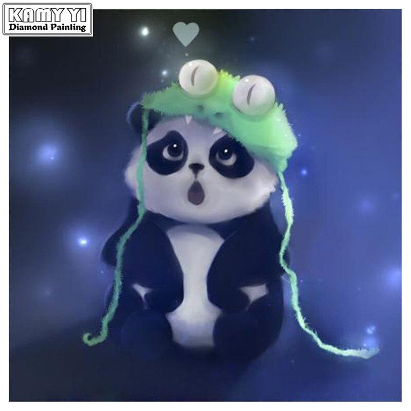 5D completa broca Quadrado pintura Diamante DIY Bonito dos desenhos animados panda Mosaico de Diamante Bordado Ponto Cruz Rhinestone decor HYY