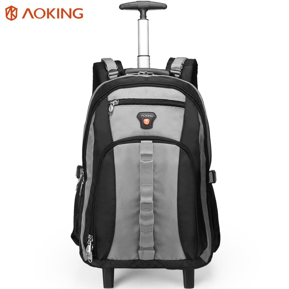 Aoking дорожная тележка рюкзак для багажа большой емкости мужские сумки на колесиках водонепроницаемые багажные сумки на колесиках