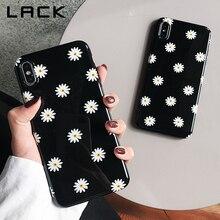 جرابات هاتف بزهور الأقحوان بتصميم كلاسيكي لهاتف iphone 11 11Pro Max XS Max X XR 8 7 6S 6 Plus غلاف كابا أسود ناعم على الموضة