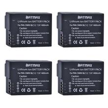 4 pièces DMW-BLC12 dmw blc12e DMCBLC12 BLC12 Rechargeable Li-ion Batterie pour Panasonic FZ1000, FZ200, FZ300, G5, G6, G7, GH2, DMC-GX8
