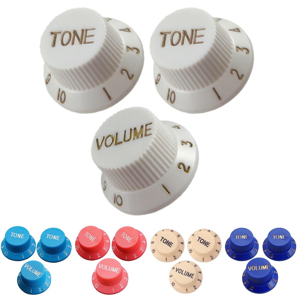 Perillas de control de velocidad de guitarra 1 volumen 2 tonos para Stratocaster ST SQ guitarras eléctricas Accesorios