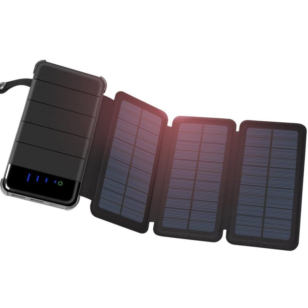 Banco de energía Solar Universal de 30000 mah, cargador portátil, Panel Solar, batería externa, Banco de energía Universal para iPhone/Xiaomi