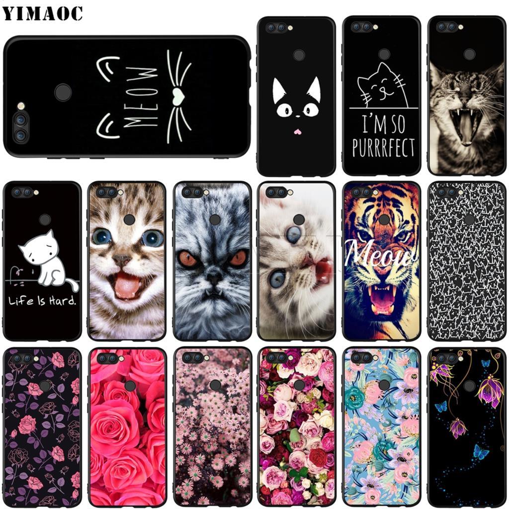 YIMAOC gato lindo gatito Minino caso Huawei Mate 10 P8 P9 P10 P20 P30 P Smart Lite Pro Mini 2017