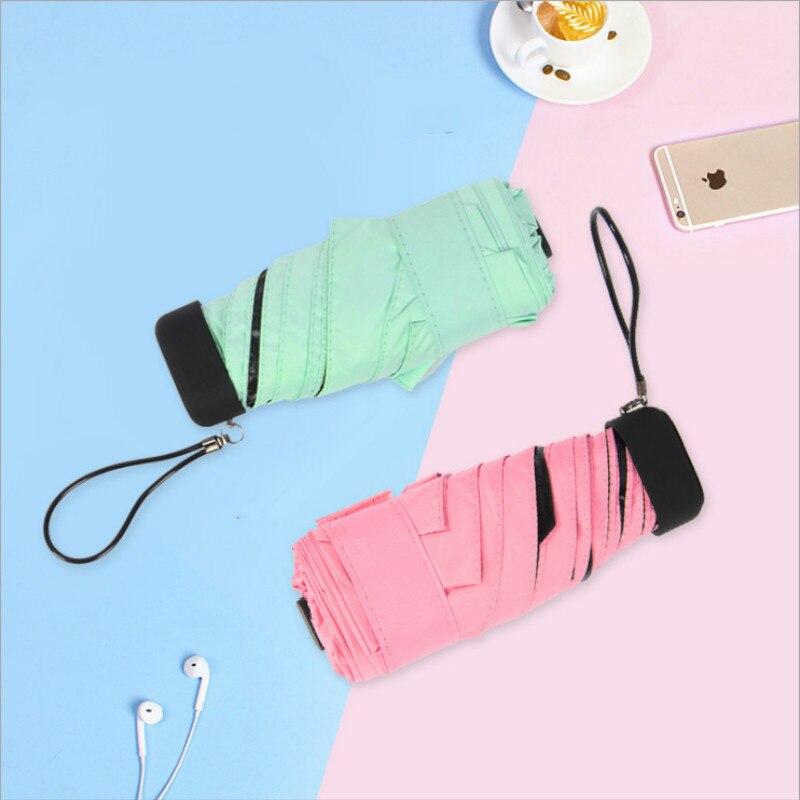 Карманный мини зонтик от солнца и дождя для женщин анти УФ Ветрозащитный прочный