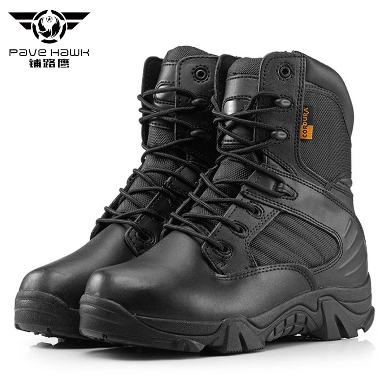 Brand New Men Military Boots Quality Special Force Tactical Desert Combat Ankle Botas Army Work Shoes Leather Women Snow Boots jzb high quality men military boots special force tactical desert combat ankle botas army work safety shoes leather snow boots