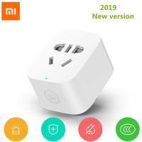 Умная розетка Xiaomi Mijia с Wi-Fi, Беспроводной удаленный выключатель, адаптер для умного дома, работает с приложением, с многофункциональным шлюз...